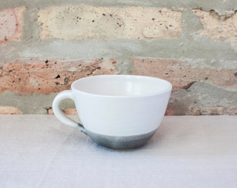 Gray Cafe Coffee Cup by Barombi Studios
