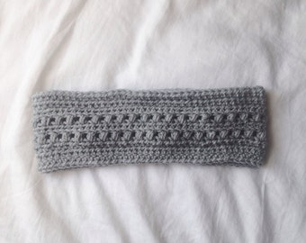 Ear warmer headband in grey