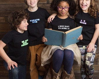 Wordnerd Apparel T-Shirt with Velcro Letters -- Kids
