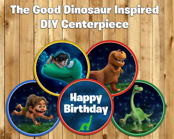 DIY The Good Dinosaur Inspired Centerpiece Instant Download Print The Good Dinosaur Centerpiece Decoration Good Dinosaur Birthday Decoration