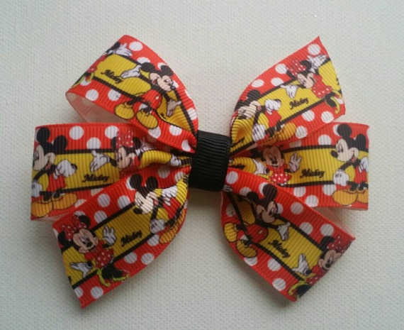 Red Minnie Mouse Hairbow