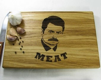 Gift Ideas For Men Cutting Board Ron Swanson Parks and Recreation Custom Engraved Board Anniversary Gifts For Men, Meat, Christmas Gifts