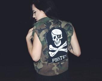 Camo pirate vest