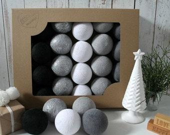 Cotton Balls Silver Winter 20 items