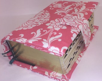 Scripture cover for Bible/ LDS Quad/Coral