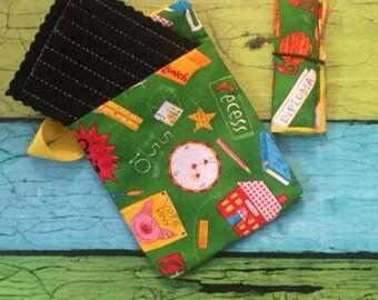 Child's Chalkboard busy bag - bag, eraser, chalk holder