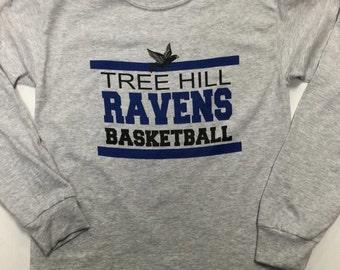One Tree Hill Ravens Basketball Long Sleeve Tee - Fan tee, novelty tee,