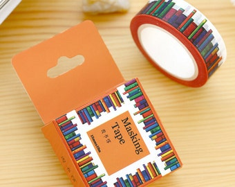 Roll of Books Washi Tape - Library Masking Tape, Planner Accessories, Kawaii Tape, Japanese Tape, Novel Washi, Ships from USA - IMP28