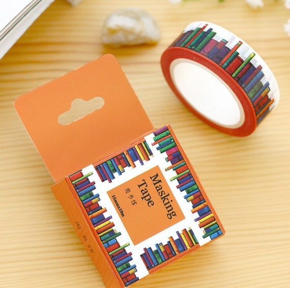 How To Make A Book Cover Without Tape ~ Roll of books washi tape library masking planner