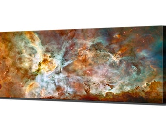 Carina Nebula Hubble Telescope Canvas Wall Art Print in 5 Sizes Ready To Hang Decor