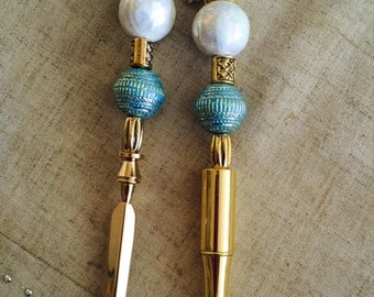 Beaded Pen and Letter Opener Set