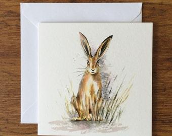 Hare - Woodland Animal Card