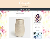 Premade Blogger Template  - Blogger Templates - Blog template blogger - blogger theme - Sale - Cosmopolitan template - Instant Download