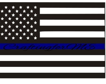 Flag Police Blue stripe; commercial and personal use