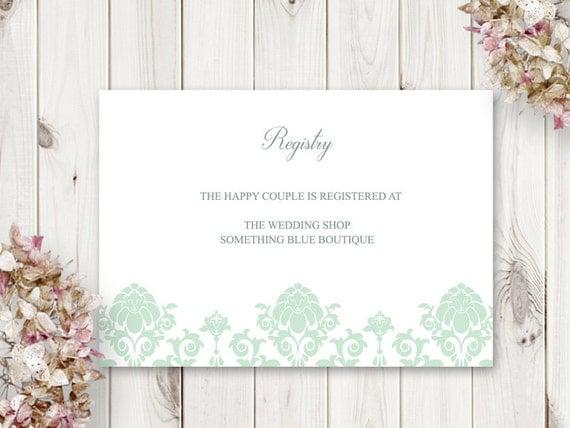 Druckbare Hochzeit Standesamt Karte Floral Damast