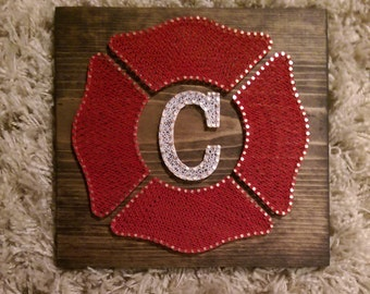 Firefighter Hero Tribute String Art