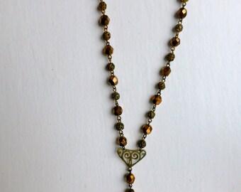 Vintage Bead Necklace 75cm long