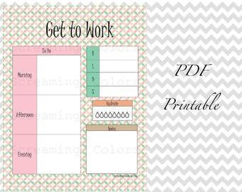 Pastel Circles Daily Planner Organizer