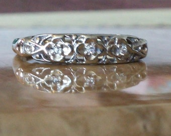 SALE***/Antique Two Tone  Wedding Band