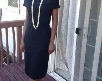 Vintage Jane Irwell Cape Knit Dress