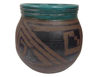 Navajo Style Ceramic Vessel