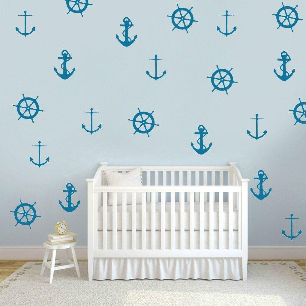nautical wall decals nautical wallpaper anchor decals ship. Black Bedroom Furniture Sets. Home Design Ideas