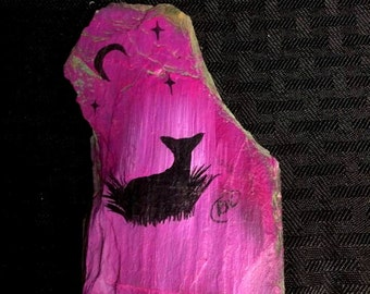 Pink Fawn Slate Magnet