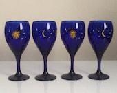 Libbey Rock Sharpe Celestial Water Goblets