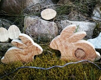 Easter Bunny - decorative wood gift