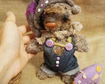 Handmade teddy bear.  Artist Teddy Bears, Soft Toys, Stuffed Animal. ID6
