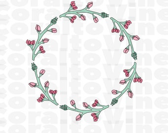 rose bud wreath SVG rose svg rose bud cut file rose cut file roses svg rose buds floral wreath svg cup decor rose decor cut file rose art