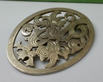 Antique costume jewelry brooch 800 silver SB171