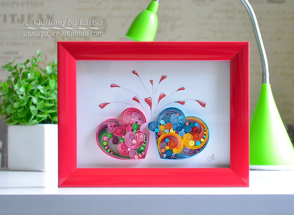 Quilling Wall Art Quilling Art Paper Quilling Love Heart