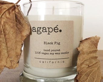 Black fig, soy candle, soy candles, hand poured candle, fall candle