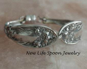 "Spoon Bracelet ""Narcissus"" by Oxford Silverware Bracelet Spoon Jewelry Flatware Bracelet Handmade Gift Wedding Fork Jewelry-192"