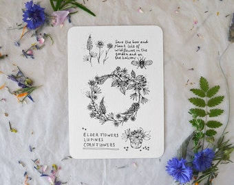Save the bees - Card