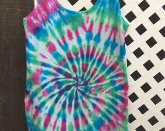 Tie-Dye Dress - festival apparel - Large