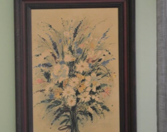 Mid Century Floral Print, Wall Hanging