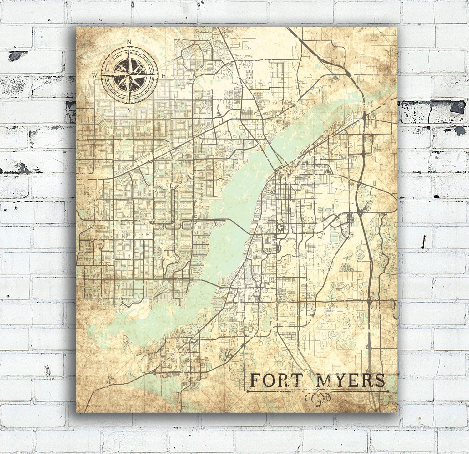 Fort Myers Florida Etsy - Florida map ft myers