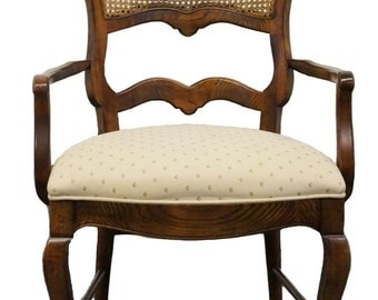 CENTURY FURNITURE Chantaine Collection Country French Cane Back Arm Chair