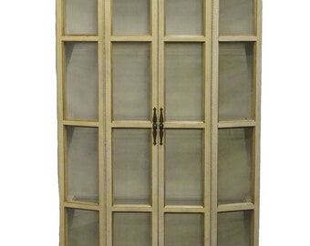 """THOMASVILLE French Regency Painted 46"""" Lighted Display Cabinet 766-56"""