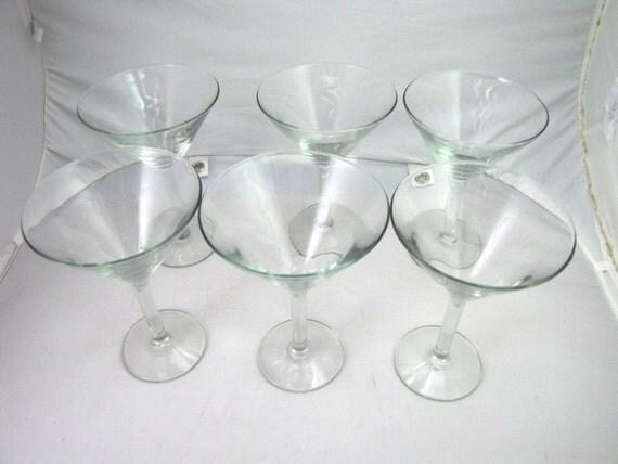 fine crystal glasses champagne wine vintage stemware set of six 6