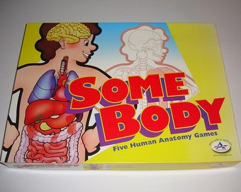 RARE RARE RARE!  Vintage Some Body board game about biology/human anatomy.  100% Complete!