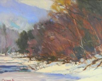 Nashawannuck Pond in Winter