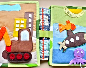 Quiet book ,activity book,soft toy for boys between 1 and 3 years,funny games to discover the world