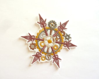 Snowflake with wheels steampunk