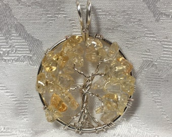 Gorgeous Citrine Tree of Life Pendant