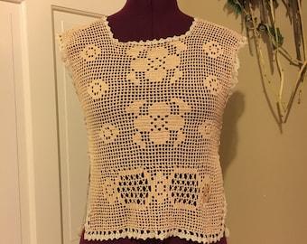 Edwardian crochet top