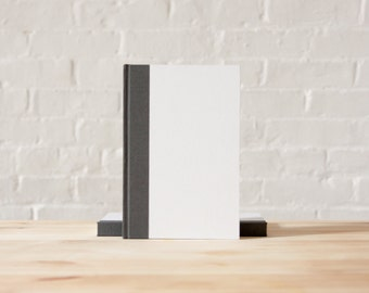 White and Grey Hardcover Notebook | Journal | Sketchbook
