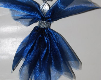 Midnight Blue Angel ** Spring ** Christmas **Wall Decoration ** Christmas Tree Decoration ** Rear View Mirror Dangle ** Angels for Everyone!